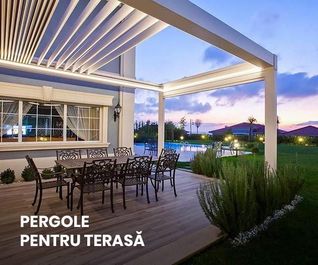 pergole retractabile pentru terasa ta, potrivita pentru restaurante, hoteluri sau pentru curtea casei tale