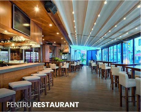 pergole restaurant cu inchideri din sticla, terasa restaurant inchisa