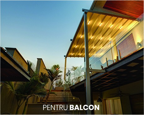pergola pentru terasa pentru balcon, la parter sau la etaj