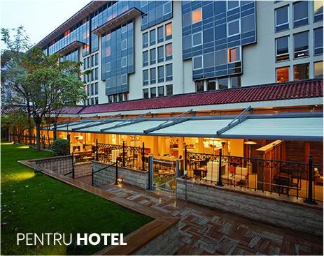 pergole pentru terasa hotelului, fie ca este cafenea, restaurant sau spatiu de relaxare