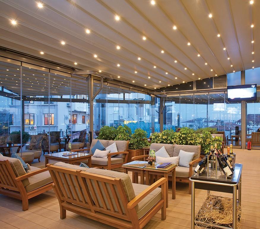 acoperis retractabil terasa restaurant