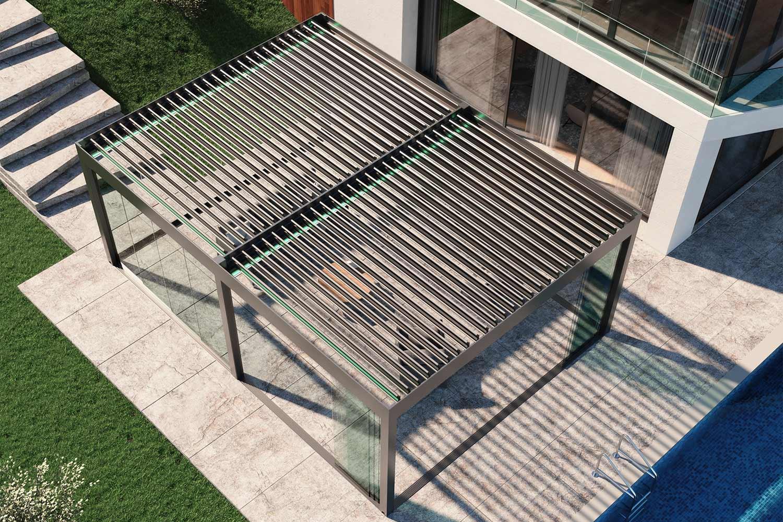 pergole aluminiu bioclimatice terase dimensiuni mari
