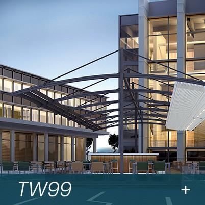 pergole restaurant de dimensiuni medii si mari, terase acoperite cu acoperis retractabil